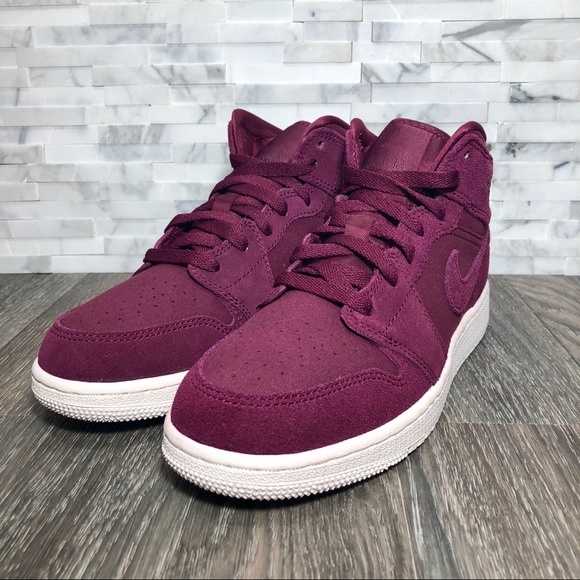 dbe4c2a180c Jordan Shoes | Nwot Kids Air 1 Mid Bordeaux Sail | Poshmark